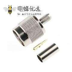 TNC连接器公头直50Ω电缆安装压接端子