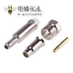 FME直式电缆安装连接器插孔压接端子50Ω1.8GHz接线RG174/U
