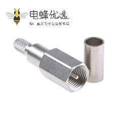 FME插座直式电缆安装连接器压接端子50Ω2GHz接线RG58 C/U