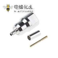 FME插头直式电缆安装连接器压接端子50Ω1.8GHz接线RG174/U