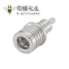 QMA连接器插头50Ω电缆安装压接焊接端子接线RG174 A/U