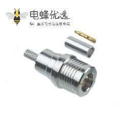 QMA压接50Ω电缆安装连接器插头端接线RG58