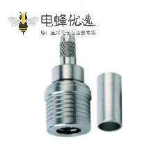 QMA焊接端接50Ω电缆安装连接器插头压接接线RG58 C/U
