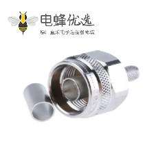 N型插头50Ω直式电缆安装连接器压接端接11GHz接线1.5/3.8