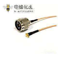 RF Cable 线RG316接N公头转MMCX弯公头