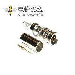 1.0 / 2.3连接器直75Ω插头压接端接微型隔板配件卡入式电缆安装