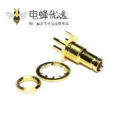 1.0 / 2.3连接器插孔直75Ω焊接端接PCB安装微型微型隔板配件