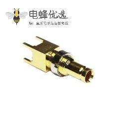 1.0 / 2.3连接器插孔直75Ω焊接端接,PCB安装标准隔板配件