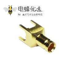1.0 / 2.3连接器母直75Ω焊接端接PCB安装标准快速连接
