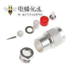 TNC插头直公50Ω电缆安装焊接端子URM43