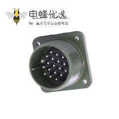 方型插座MS3102A22-14P连接器19芯航空接插件