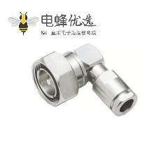 7/16连接器焊接端接电缆安装直角50Ω插头