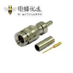 1.0 / 2.3连接器直75Ω插头压接端接电缆安装微型隔板配件卡入式