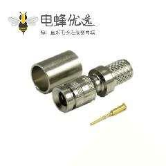 1.0 / 2.3连接器插头压接直75Ω端接电缆安装微型隔板配件卡入式