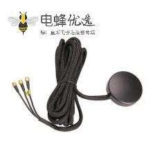 优质黑色GPS GSM天线用于数字电视接SMA公头线材RG174