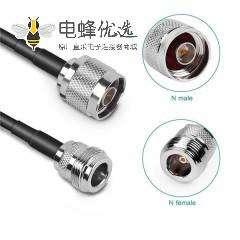 N连接器公头转母头低损耗射频线RG58线长10米