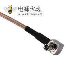 RF射频同轴线N公头转TS9弯公头RG316组装线材