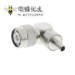 TNC直角公头50Ω电缆安装座RG141的TNC连接器压接端子