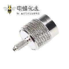 TNC插头公头直式通50Ω电缆安装TNC插头压接端子适用于RG174 / U