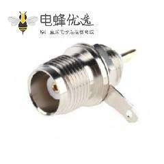 TNC连接器焊接端接直式母50Ω隔板隔板配件