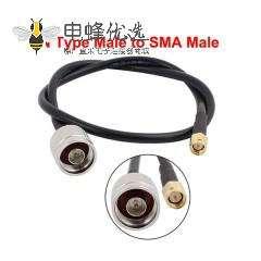 SMA射频信号线RG58U转N公头线长50CM