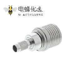 QMA连接器50Ω电缆安装插头压接焊接接线RG142 B/U