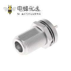 N型连接器插座50Ω直板安装焊接端子11GHz