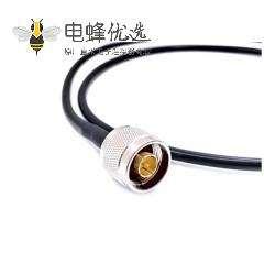 SMA公射频线LMR200接N公头组装线材