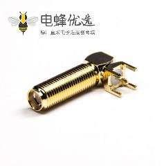 弯式接头sma加长螺纹母头插板面板安装插PCB板