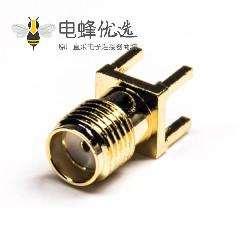 180度sma直式接头母头插板式接PCB板