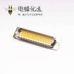 78 Pin D sub连接器公头高密度直式焊线式接头白色胶芯原厂直发