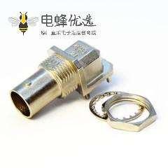 高清BNC接头表贴式连接弯式母头射频同轴连接器