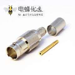 BNC接头压接直式母头180度接线连接器