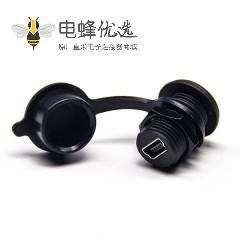 防水USB AF接头防水等级IP65Mini USB接口面板式