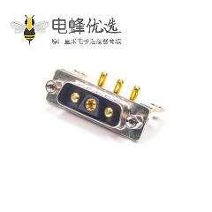 D-sub3V3公头90度焊板带支架