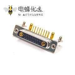 D-sub 17W2铁支架叉脚90度焊板