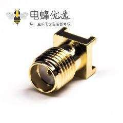 sma连接器贴板安装母头直式接PCB板
