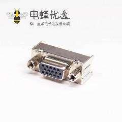 15 Pin母头直式db黑色胶芯连接器直式冲针插板带铁支架