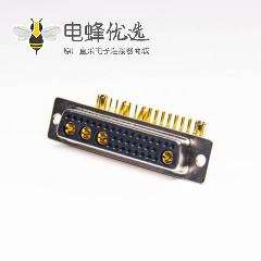 db大电流插座弯式90度36W4母头插板式接PCB板
