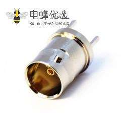 穿墙高清BNC连接器母头直式接PCB板端插座