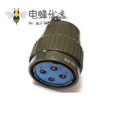 快速卡口军绿色YP36型军标航空插Y36M4芯连接器
