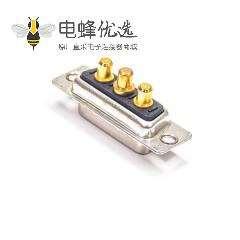 D-sub3V3母黑胶180度插板