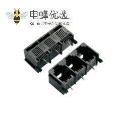 RJ11插座精品推荐 电话插座1*3 6P2C 三联体全塑不带灯连接器