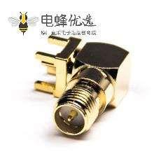 优质sma接头反极母头弯式连接器穿孔接PCB板