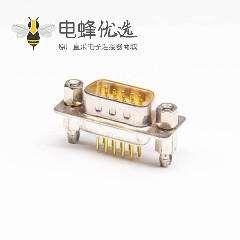 d-sub15针公头直式穿孔接PCB板白色胶芯原厂直发