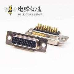 D-sub 26 Pin母头连接器直式焊线车针黑色胶芯