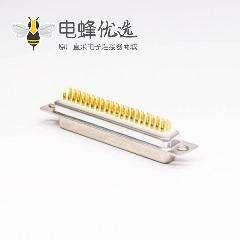 62 Pin D-sub连接器3排母头高密度白色胶芯焊接式接线