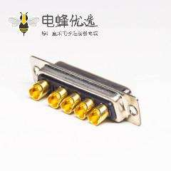 db型大电流连接器母头母针直式车针焊线式