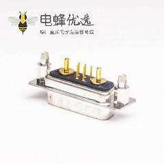 D sub大电流7W2直式公头铆锁连接插板式