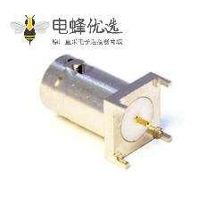 高清板端BNC接头直式母头插板75欧姆接PCB板